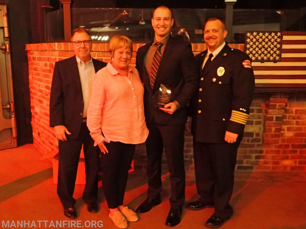Congratulations to the 2018 Matthew Zack Rookie of the Year Award recipient, Firefighter Cody Schlusemann!